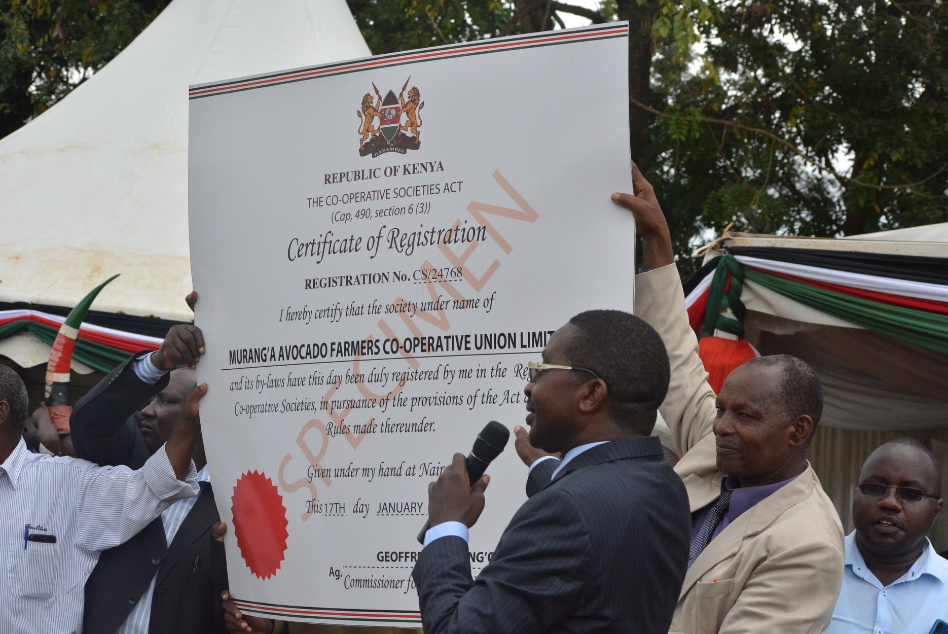 The Murang'a Avocado Farmer's Co-operative Union Launch